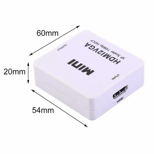 convertidor adaptador hdmi hembra a vga hembra + audio