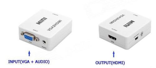 convertidor adaptador vga a hdmi + audio