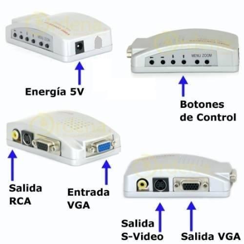 convertidor / adaptador vga a rca (conectar pc al televisor)