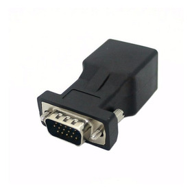 Convertidor Adaptador Vga Macho A Rj45 Cat5 Cat6 Red Extensi
