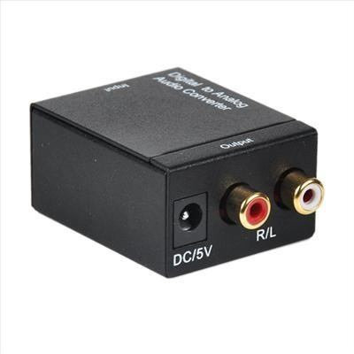 convertidor audio digital a analogo rca toslink / coaxial