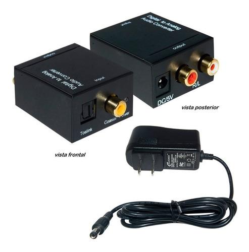 convertidor audio digital óptico a análogo rca