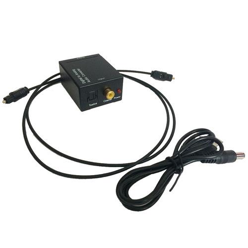 convertidor audio digital toslink rca + regalo cable óptico