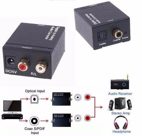 Convertidor Audio 211 Ptico A Rca 99 900 En Mercado Libre