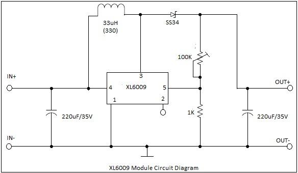 Circuito Boost : Convertidor boost xl elevador voltaje ajustable