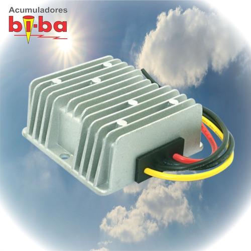convertidor conversor 24v a 12v 10 ah. enertik