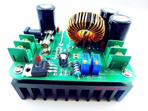 convertidor dc-dc 10-60v a 12-80vdc elevador de voltaje 600w