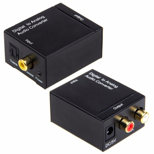 convertidor de audio digital a análogo toslink óptico a rca
