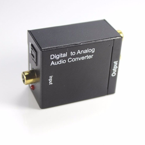 convertidor de audio digital (toslink) hacia análogo (rca)