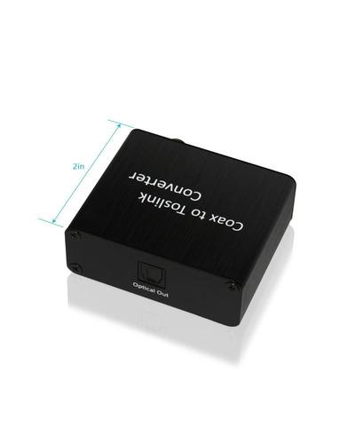 convertidor de audio digital xtrempro coaxial a toslink, señ