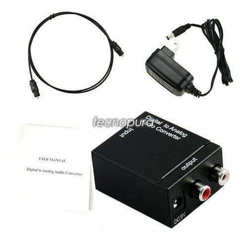 convertidor de audio óptico a rca analógico - incluye cable