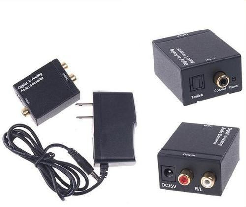 convertidor de audio optico toslink coaxial a rca analógico