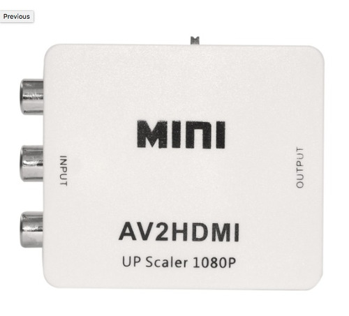 convertidor de audio y video rca a hdmi fy-1317s