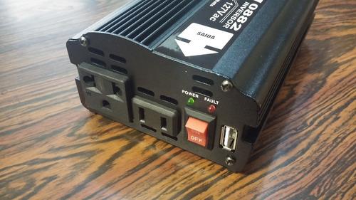 convertidor de corriente 12v a 110v 300 watts usb dni brasil