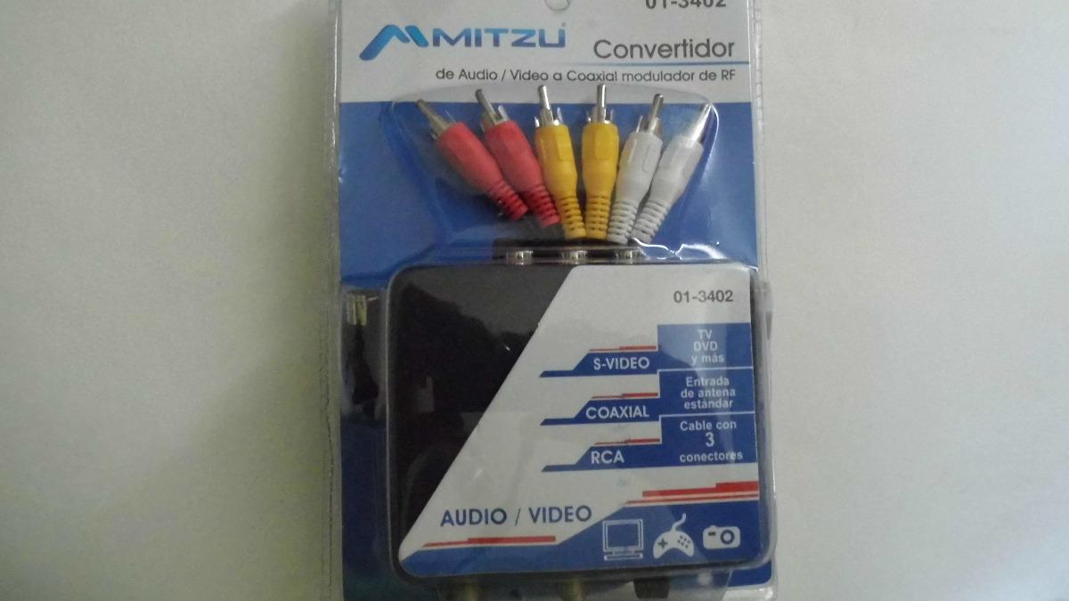 Convertidor De Entrada Rca A Coaxial Con Cables 365
