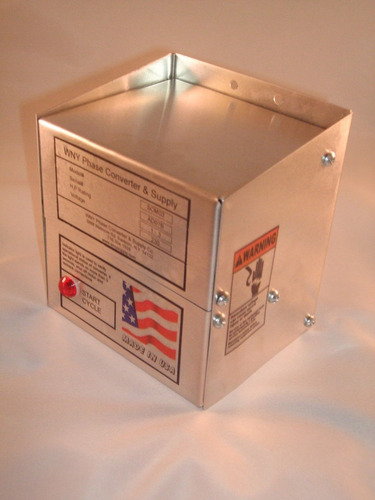convertidor de fases de mono/bifasico a trifasico para 3 hp