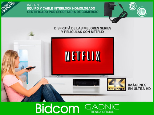 convertidor de led a smart tv 1080p tv box netflix series 4k