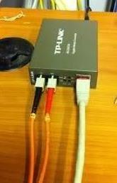 convertidor de medio tp-link mc210cs fibra s m sc gigabit