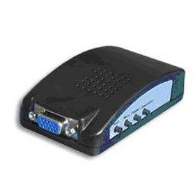 convertidor de rca a vga / s-video.. conecta rca a un monito