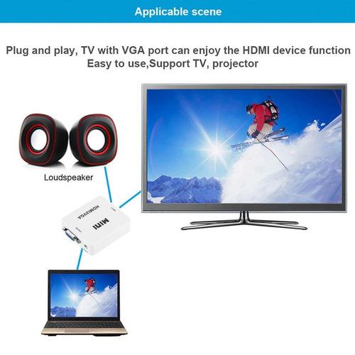 convertidor de señal vga a hdmi ada hdtv video 1080p pc proy