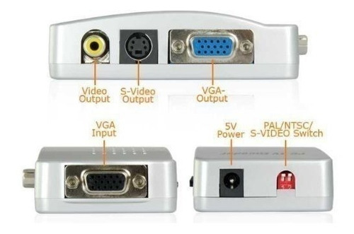 convertidor  de vga a rca / s-video ver tu pc en la tv