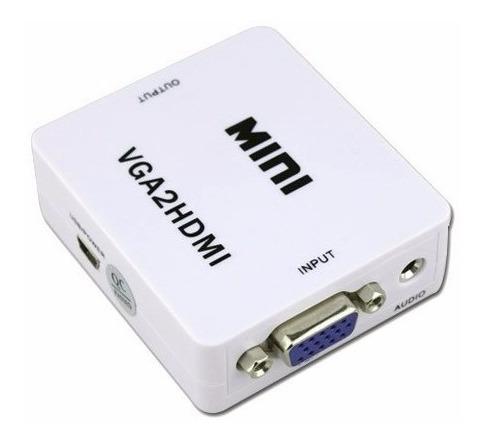 convertidor de vídeo vga a hdmi con salida de audio auxiliar