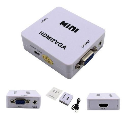 convertidor entrada hdmi salida vga full hd 1080p 4k