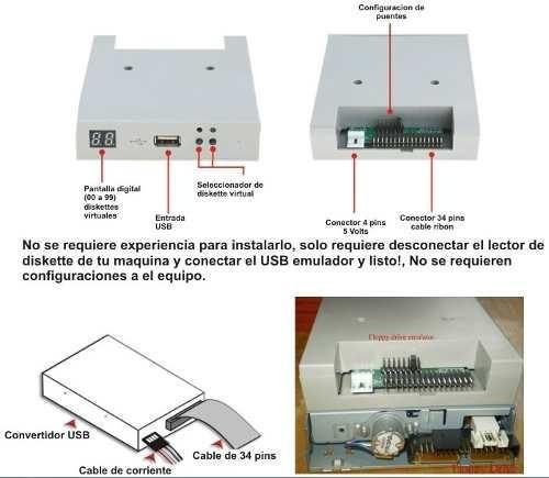 convertidor floppy a usb: teclados musicales y bordadoras