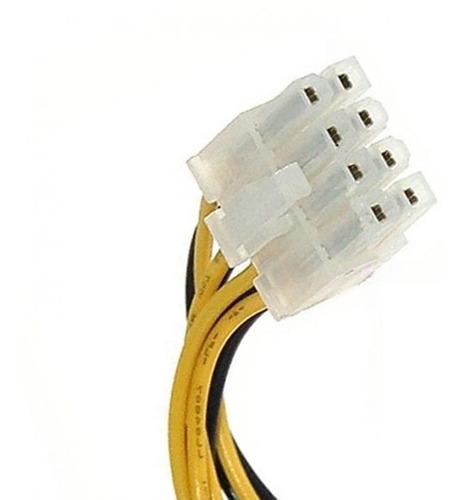convertidor fuente poder conector 4 a 8 pines motherboard