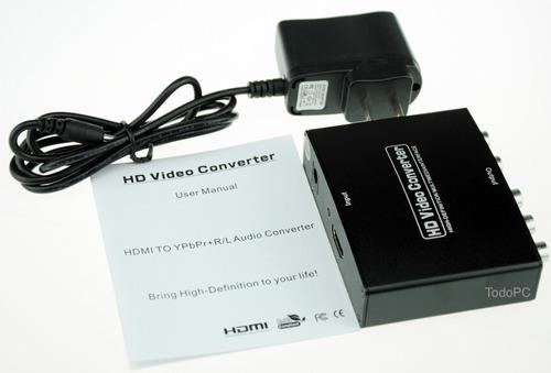 convertidor hdmi a componente audio y video hd