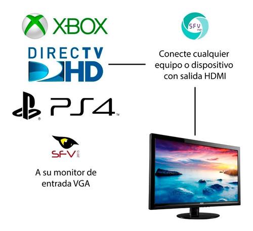 convertidor hdmi a vga video monitor laptop ps3 xbox