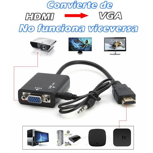 convertidor hdmi a vga xbox ps3 laptop tablet a tv monitor