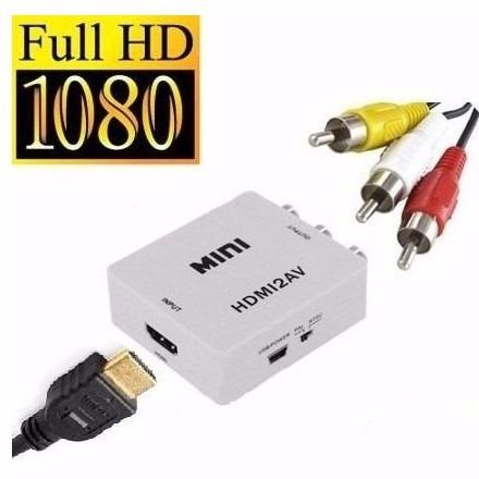 convertidor hdmi  rca + cable hdmi  + rca 3 colores jarytec