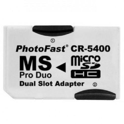convertidor micro sd a ms pro duo doble. ideal psp camaras
