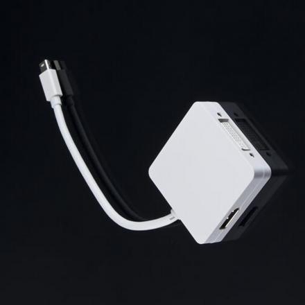 convertidor mini displayport thunderbolt a hdmi y dvi apple