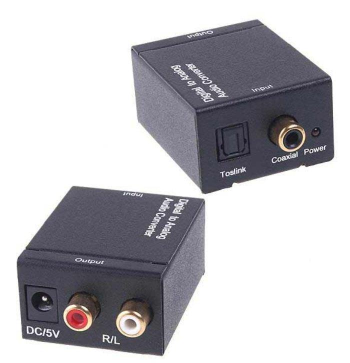 Convertidor Optico Y Coaxial A Rca Cable Toslink 250