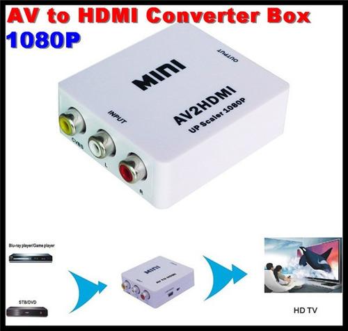 convertidor rca a hdmi full hd 1080p tiendafísica jwk vision