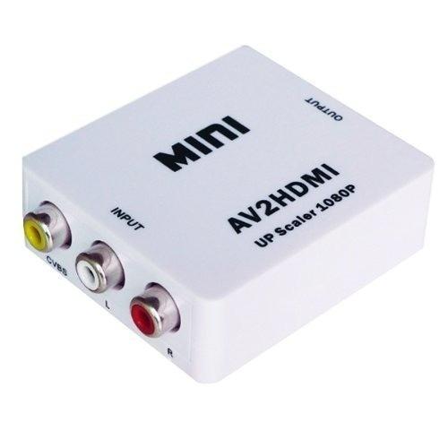 convertidor rca a hdmi hd 1080p av audio video adaptador tv