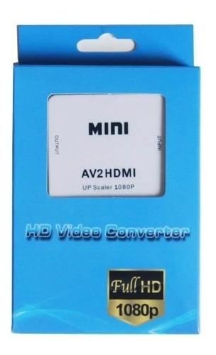 convertidor rca a hdmi tv hd pc laptop video beam 1080p