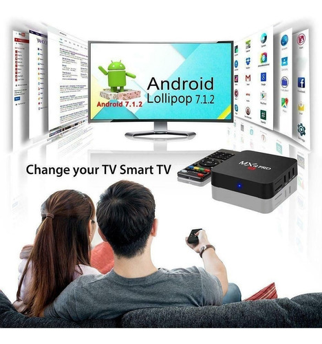 convertidor smart android tv box netflix youtube hd 4k