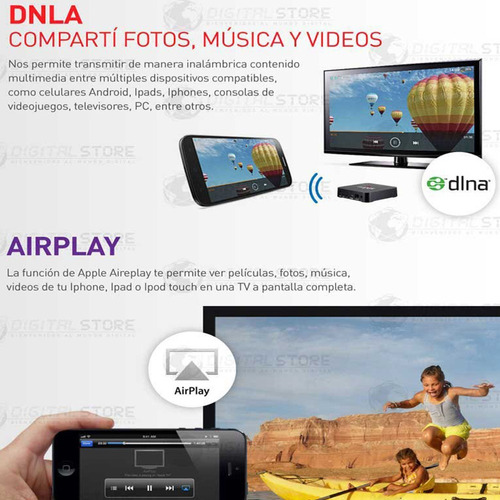 convertidor smart android tv box netflix youtube hd + cuotas