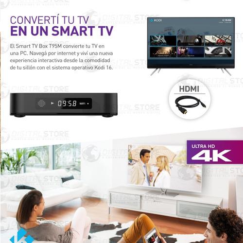 convertidor smart android tv box netflix youtube uhd 4k lcd