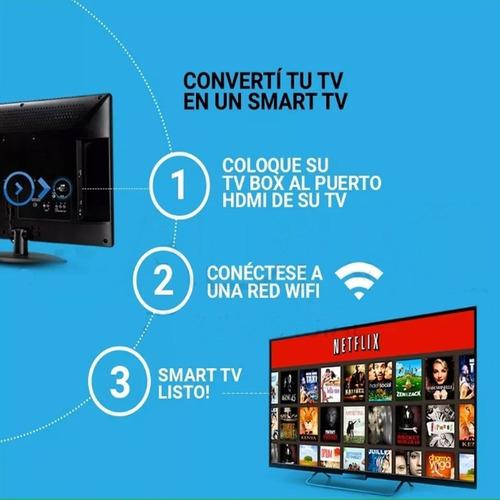 convertidor smart android tv box netflix youtube ultra hd 4k
