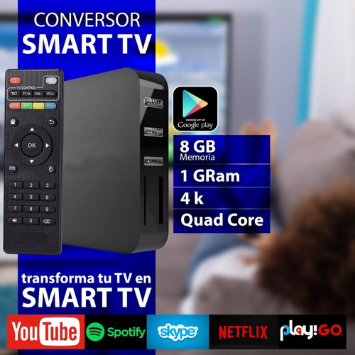 convertidor smart  convertir tv box android teclado hdmi 4k