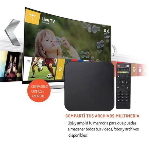 convertidor smart tv 4k mini tv quad core android 6.0 8gb