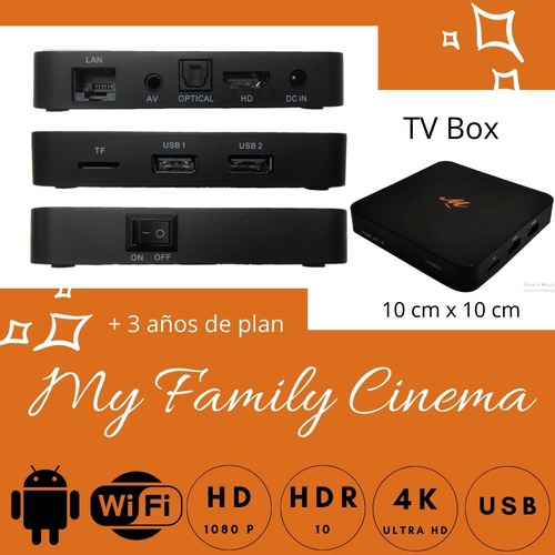 convertidor smart tv android tv box pelis my family cinema