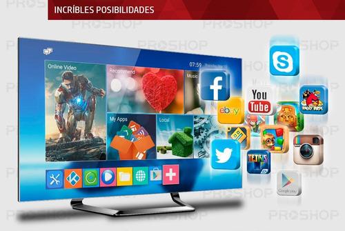 convertidor smart tv box android 7 quad core 4k con teclado