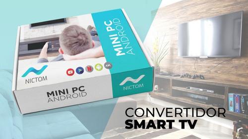 convertidor smart tv box android 7.1 quadcore + teclado