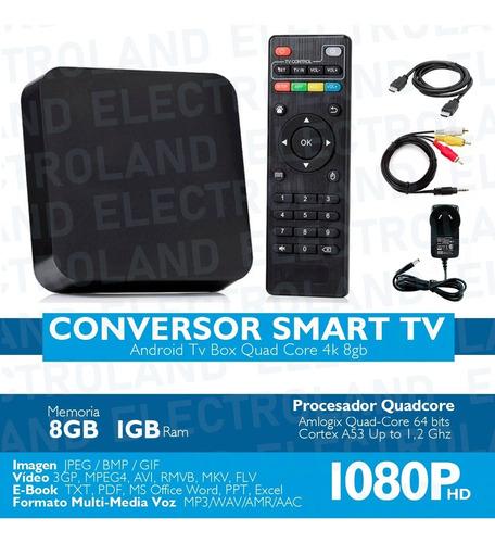 convertidor smart tv box android mini tv combo + teclado