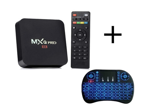 convertidor smart tv box android netflix + teclado